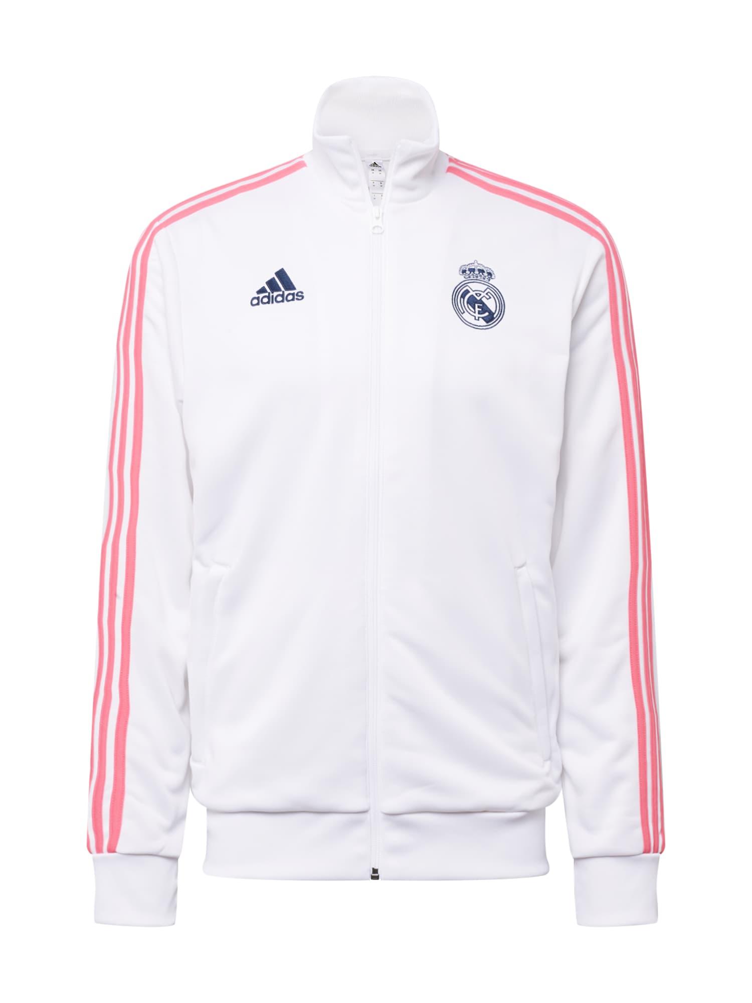 ADIDAS PERFORMANCE Sportovní bunda 'REAL MADRID'  noční modrá / bílá / růže