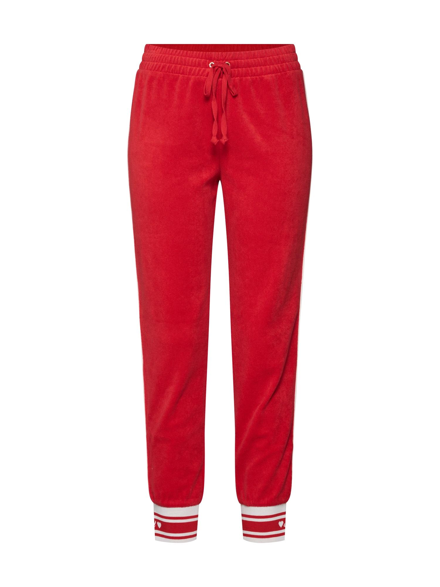 Kalhoty JUICY červená bílá Juicy Couture Black Label