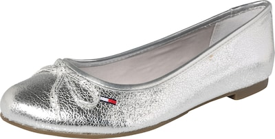 HILFIGER DENIM Ballerina in Metallic-Optik