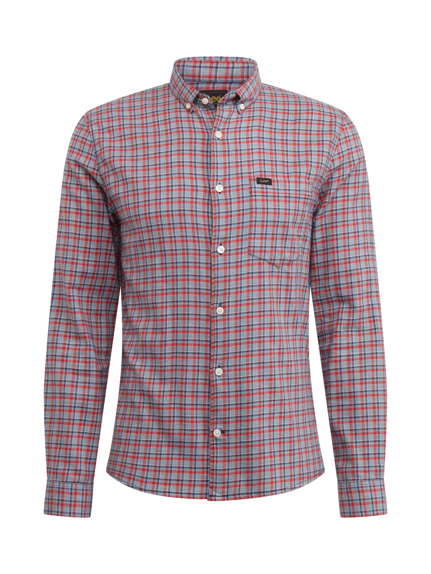 Lee Společenská košile  červená / šedá / modrá
