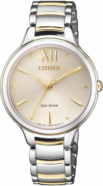 Uhren für Frauen - CITIZEN Solaruhr 'EM0554 82X' beige gold silber  - Onlineshop ABOUT YOU