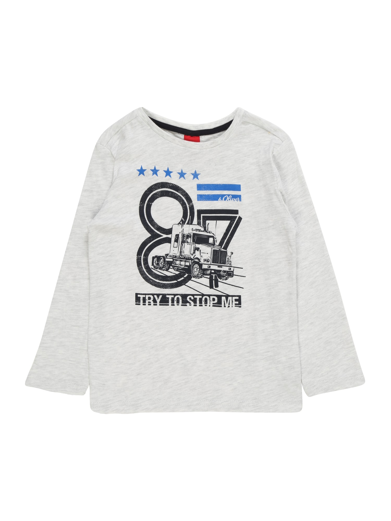 s.Oliver Junior Tričko  svetlosivá