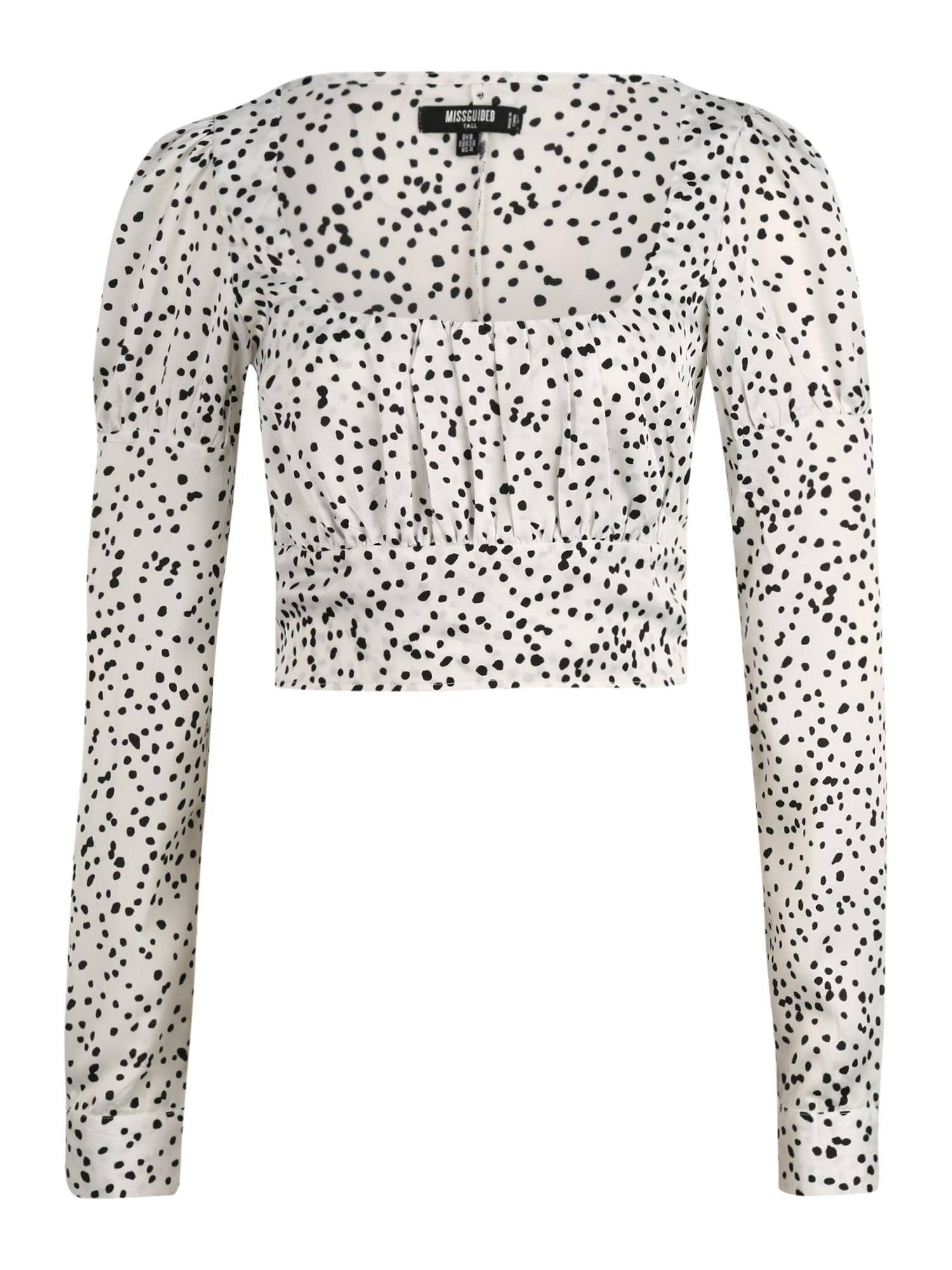 Missguided (Tall) Marškinėliai juoda / balta