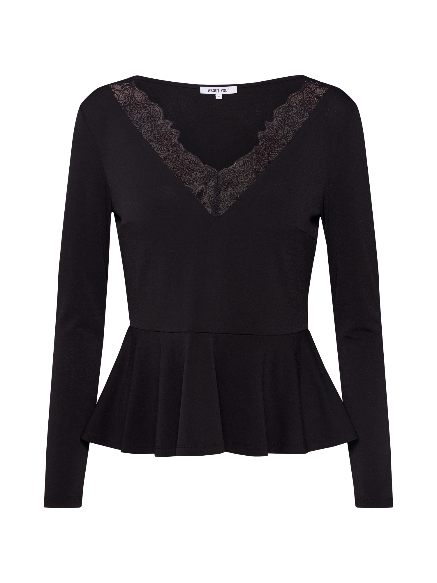 ABOUT YOU Marškinėliai 'Janine' juoda