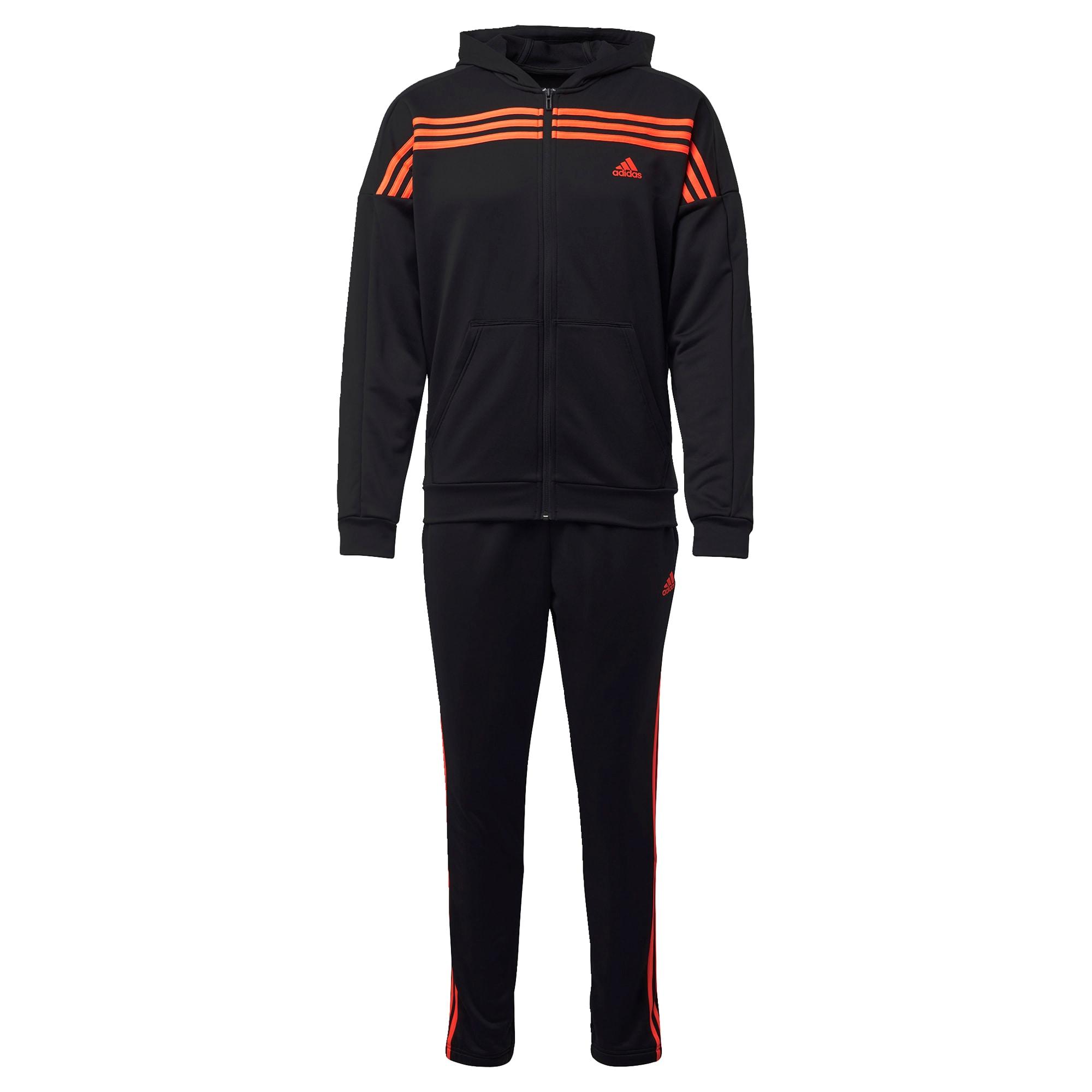 ADIDAS PERFORMANCE Treniruočių kostiumas juoda / tamsiai oranžinė