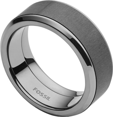 FOSSIL Ring mit Carbon, »Mens Dress, JF02368793«