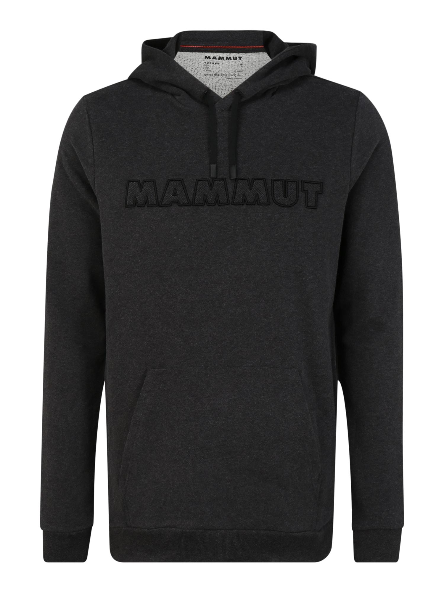 MAMMUT Sportinio tipo megztinis juoda / pilka
