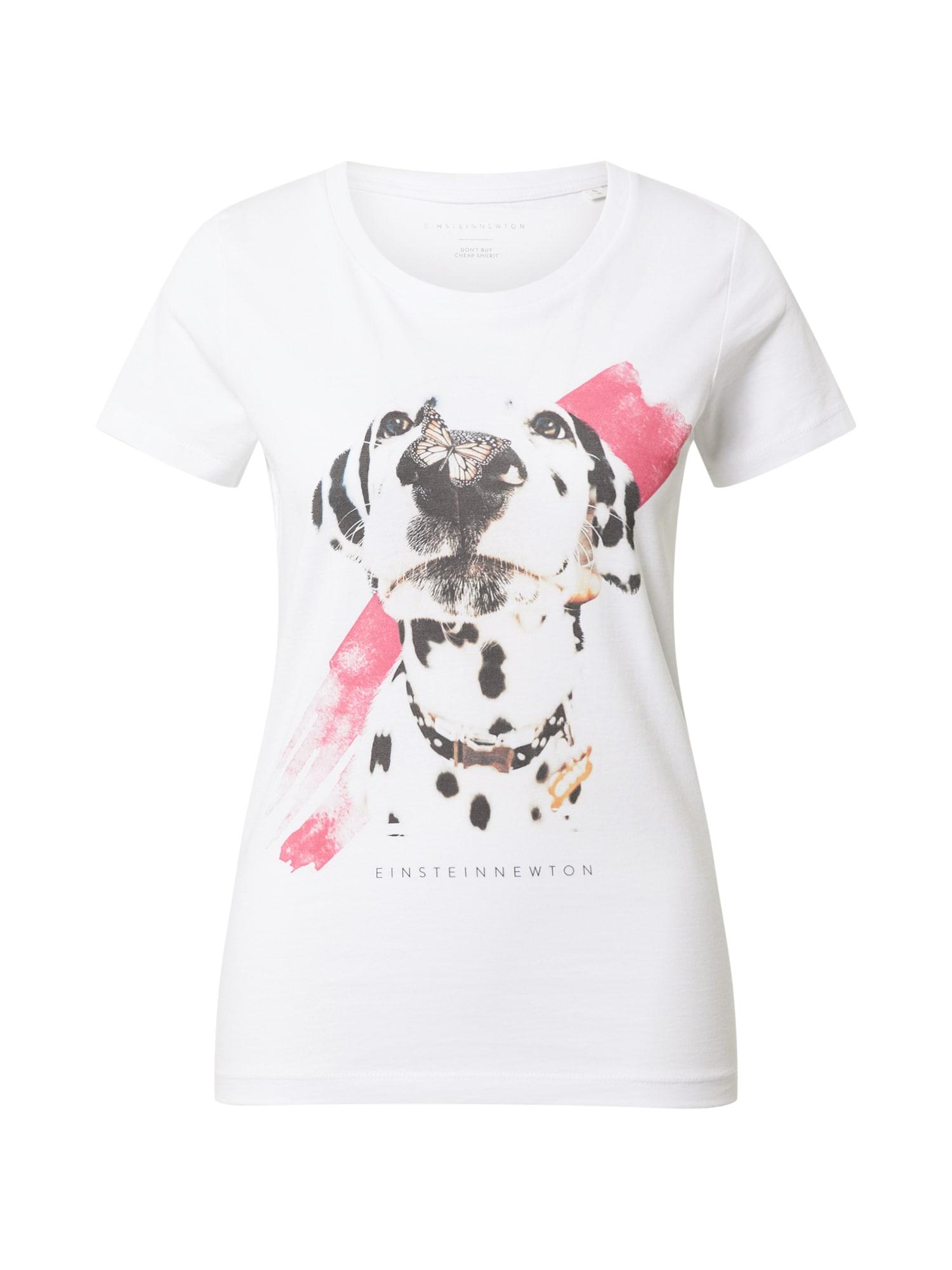 EINSTEIN & NEWTON Marškinėliai balta / juoda / rožinė