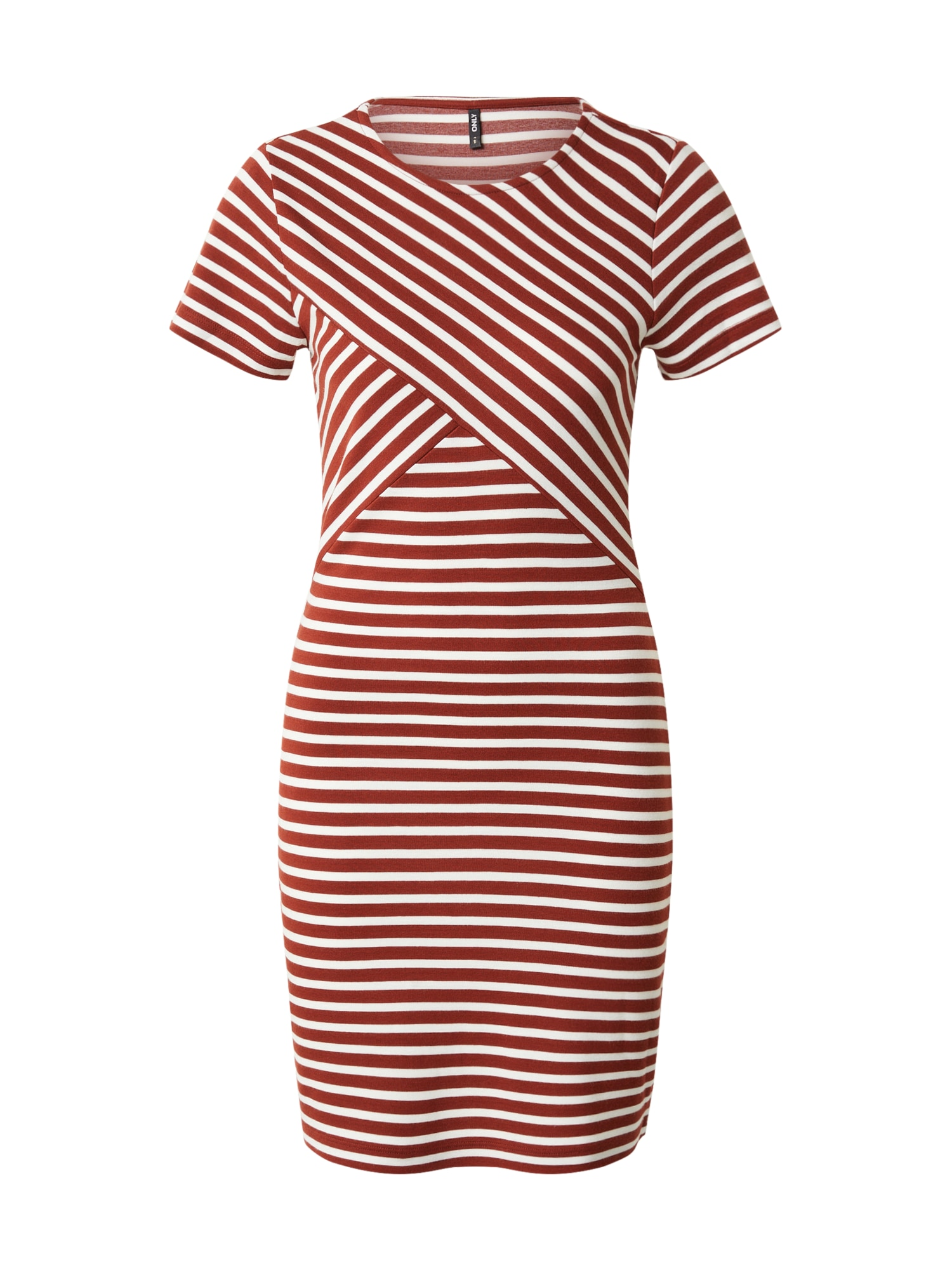 ONLY Šaty 'LAILA'  biela / hrdzavo červená