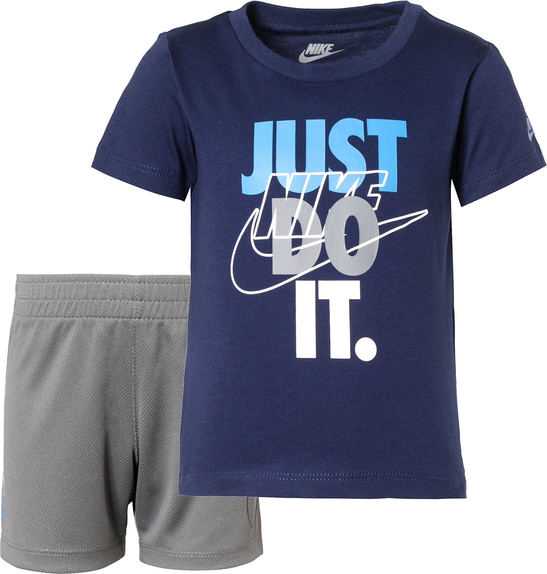 Nike Sportswear Treningas mėlyna / balta / turkio spalva / pilka