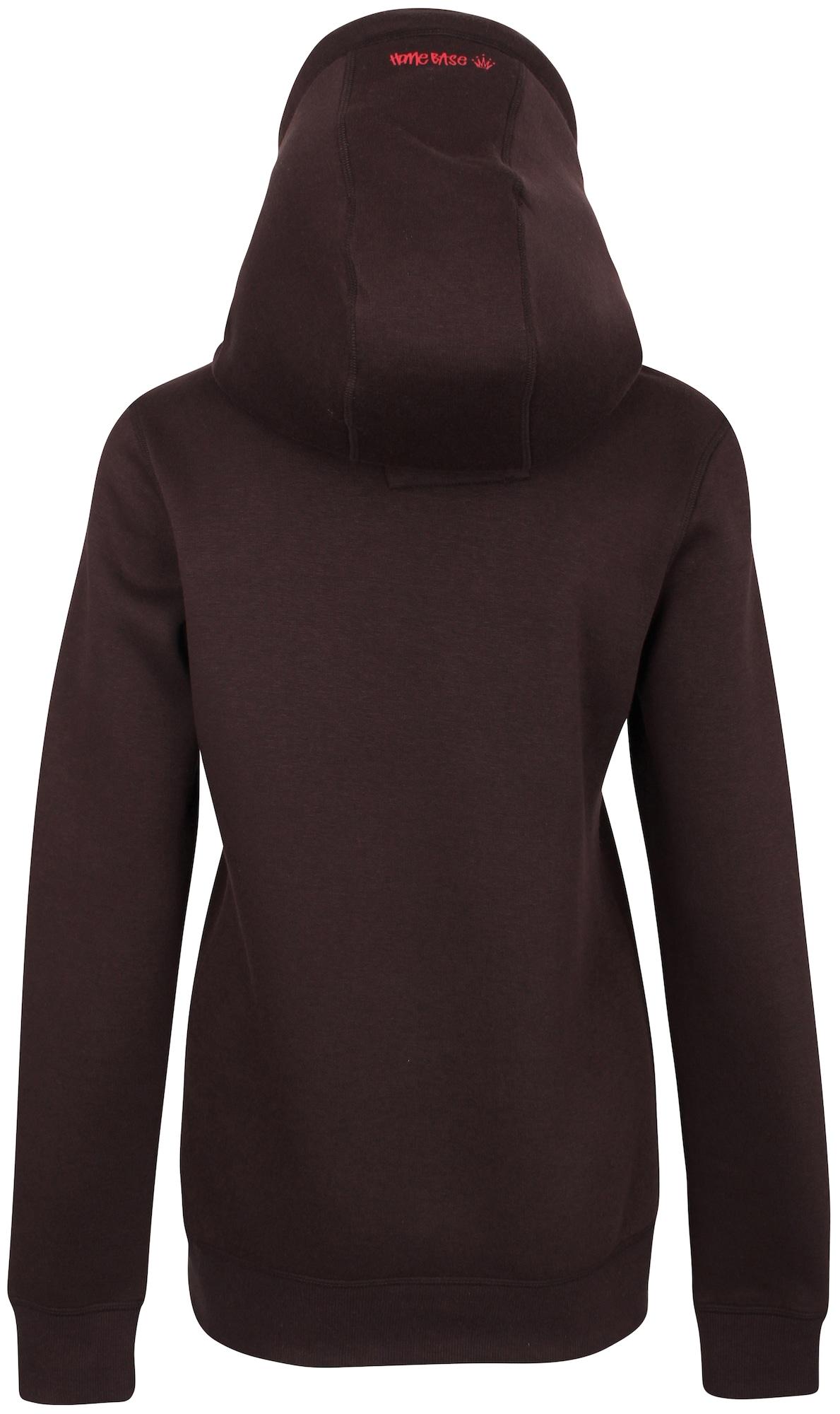 HOMEBASE, Damen Sweatshirt, bruin / basaltgrijs / rood / wit