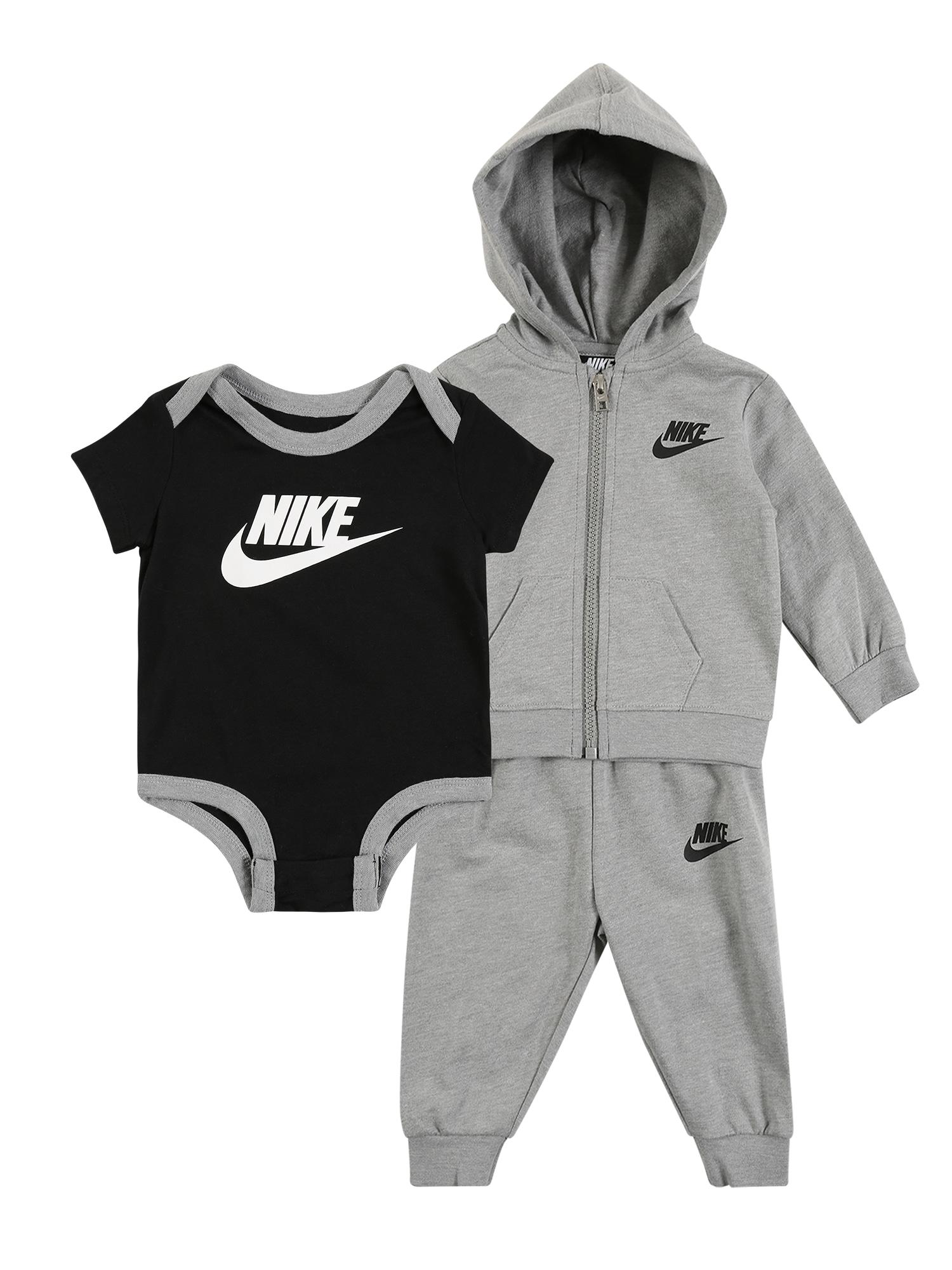Nike Sportswear Set 'SOLID FUTURA 3PC FZ PANT SET'  sivá melírovaná