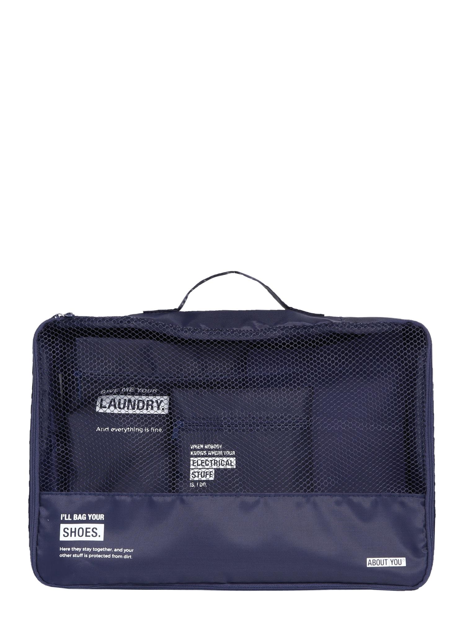 ABOUT YOU Víkendová taška  námornícka modrá / biela