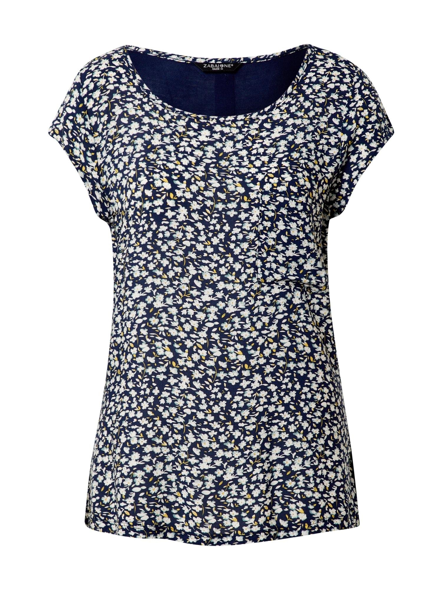 ZABAIONE Tričko 'Ida'  námořnická modř / mix barev