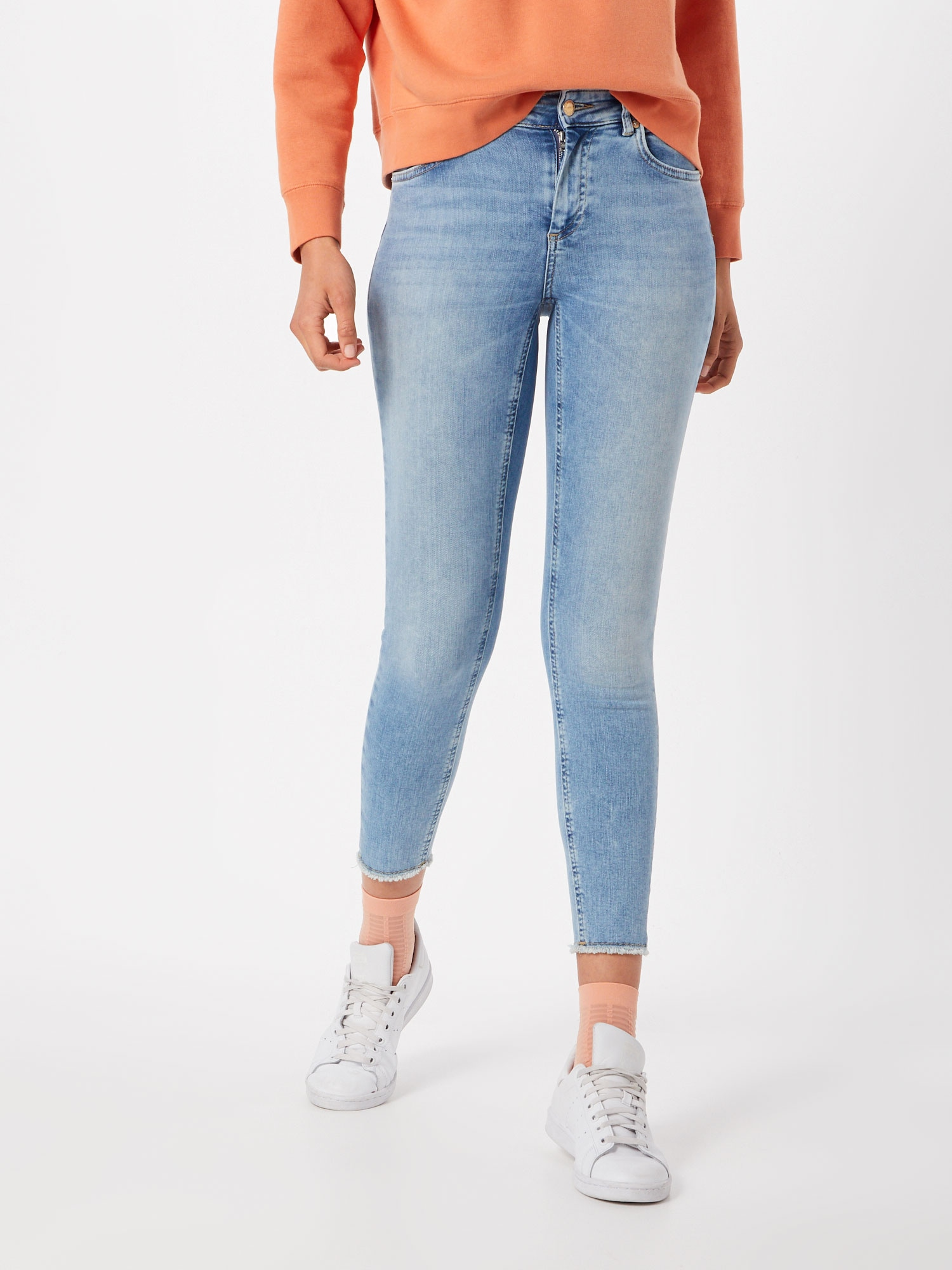 ONLY Jeans 'onlBLUSH MID SK ANK RAW JEANS REA306'  blå denim