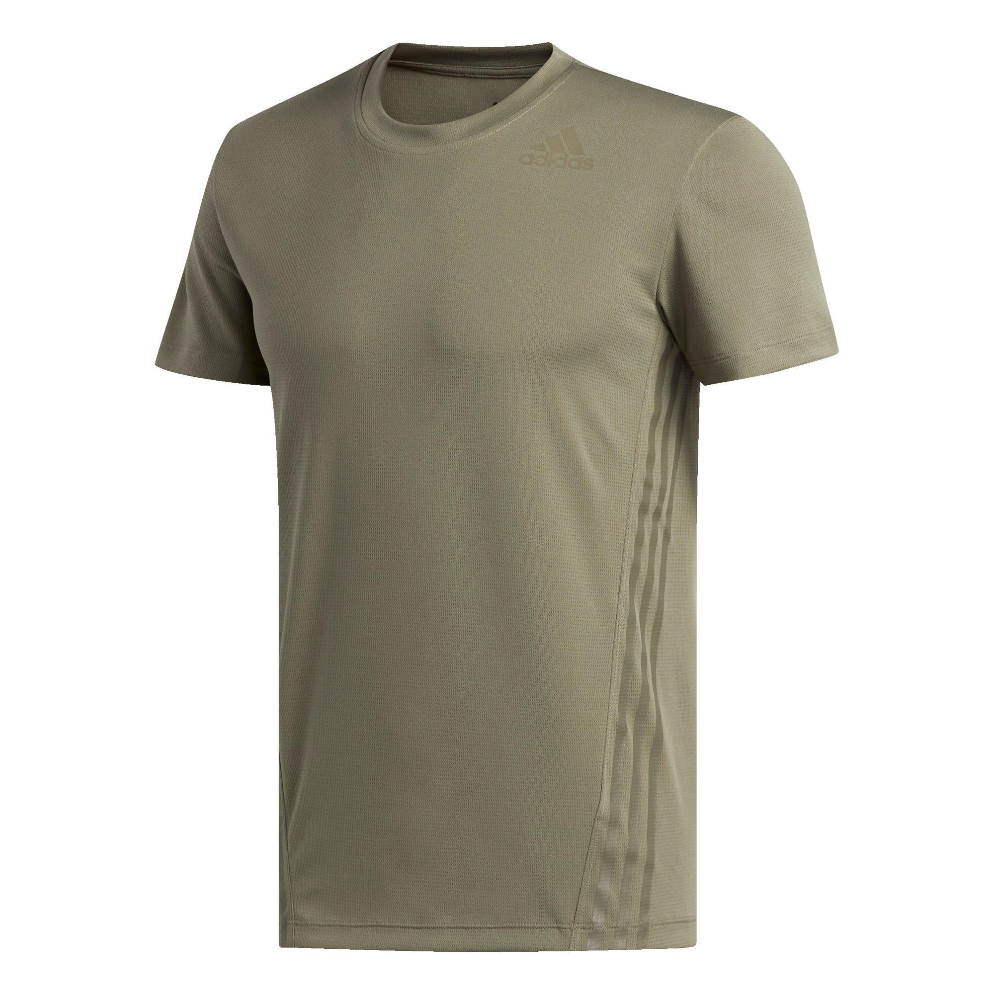 ADIDAS PERFORMANCE Sportiniai marškinėliai rusvai žalia