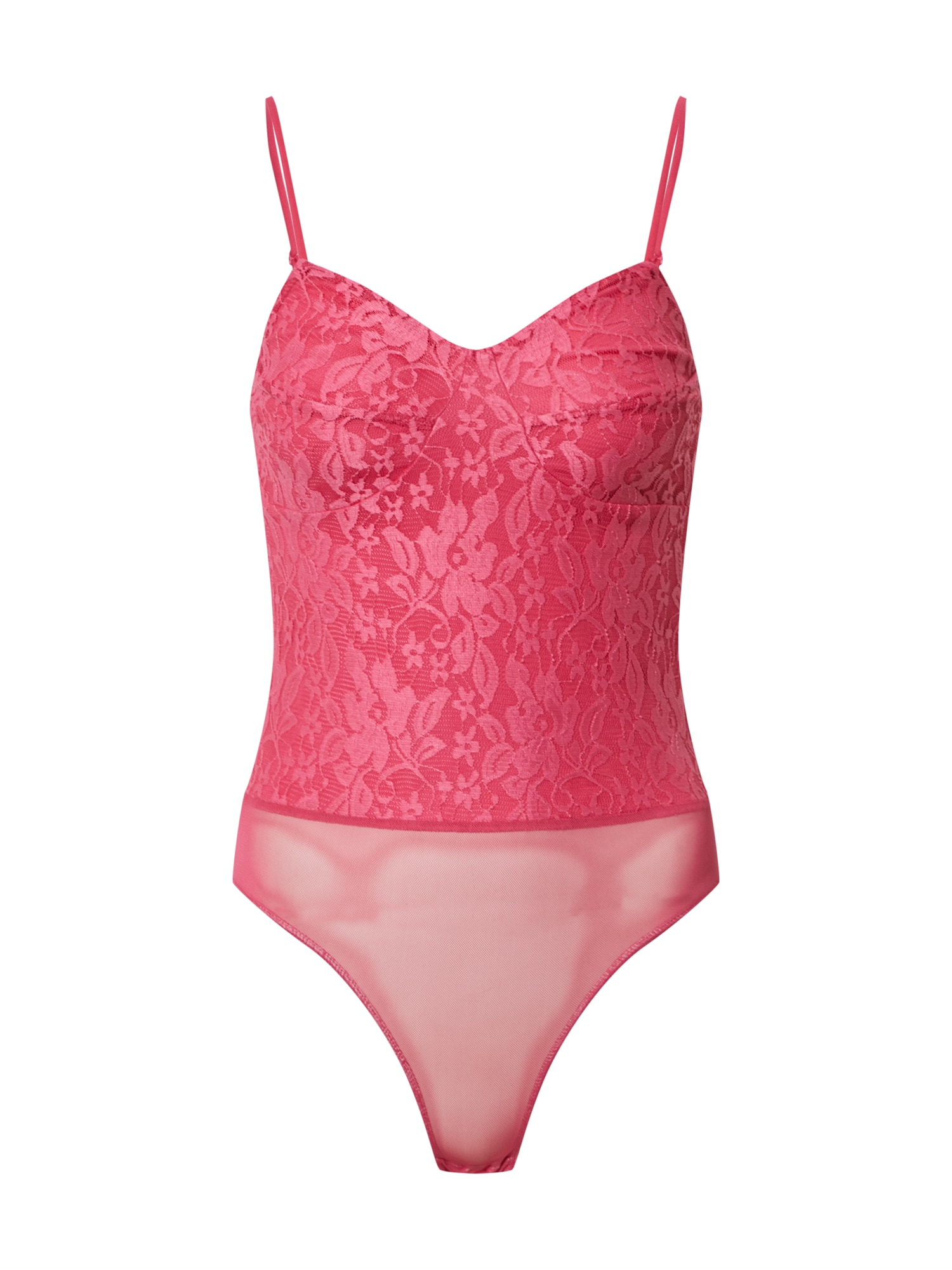 Miss Selfridge Marškinėliai-glaustinukė 'HOT PINK LACE BODY' rožinė
