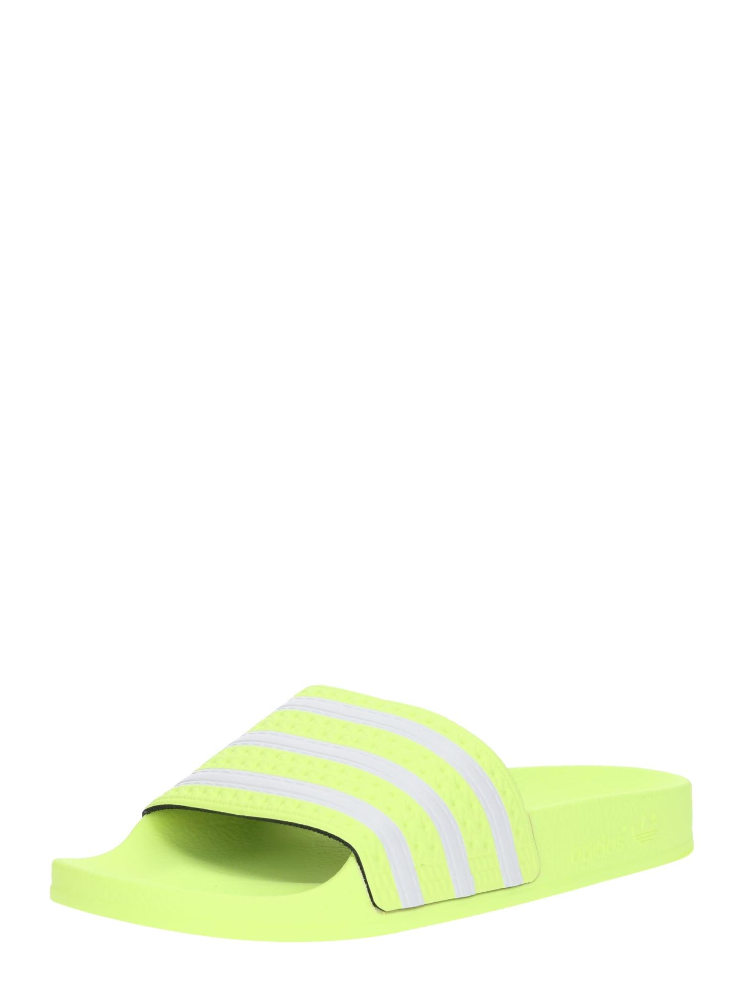 Pantofle Adilette svítivě zelená ADIDAS ORIGINALS