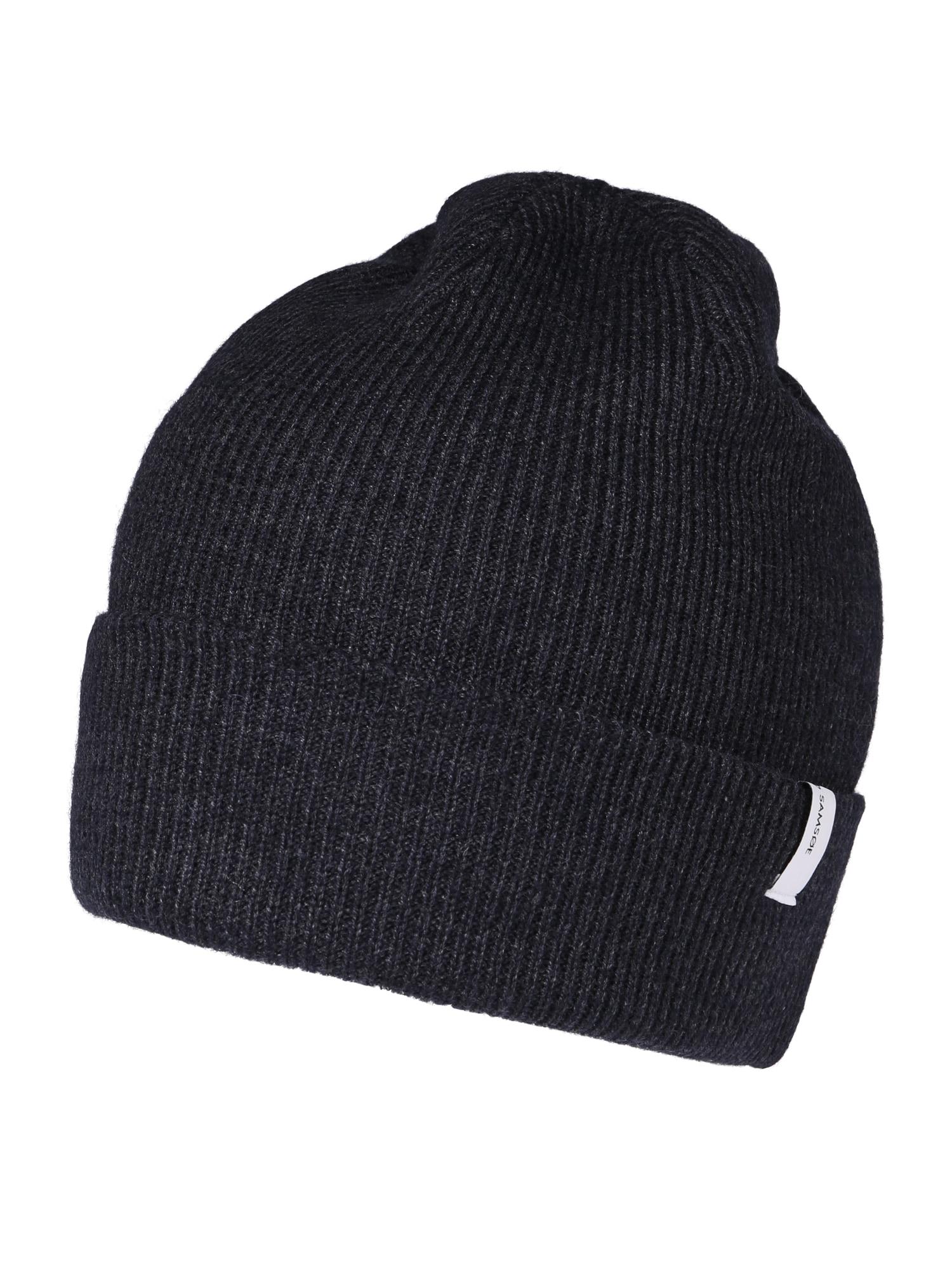 Samsoe Samsoe Megzta kepurė tamsiai mėlyna