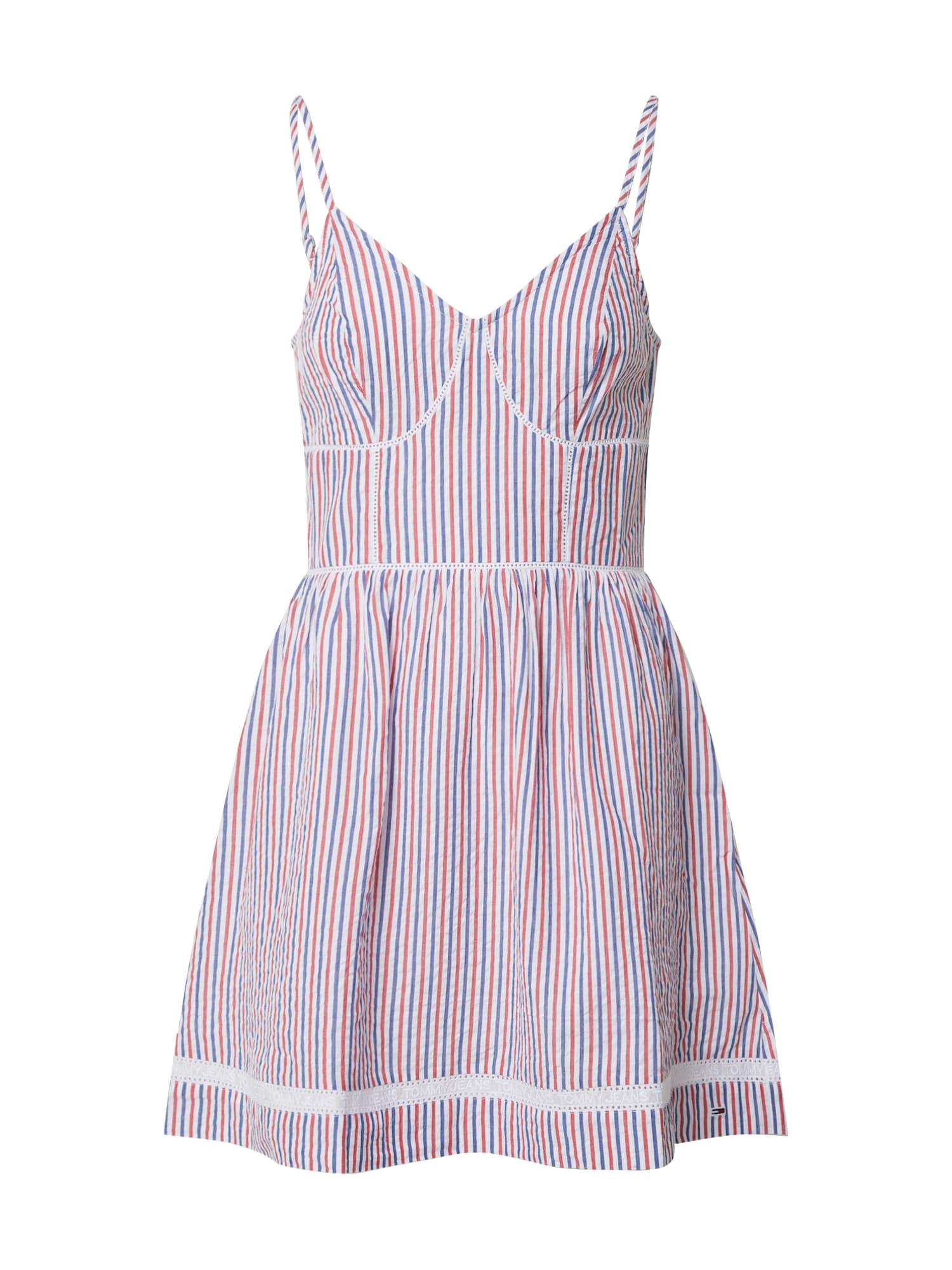 Tommy Jeans Vasarinė suknelė balta / rožių spalva / mėlyna