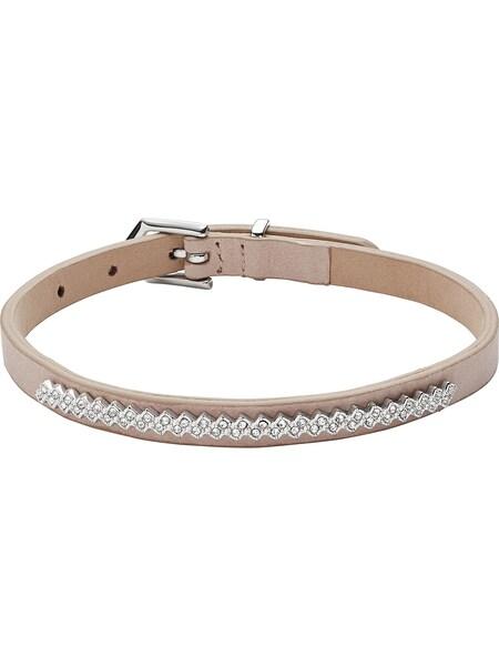 Armbaender für Frauen - FOSSIL Armband 'JF02669040' beige silber  - Onlineshop ABOUT YOU