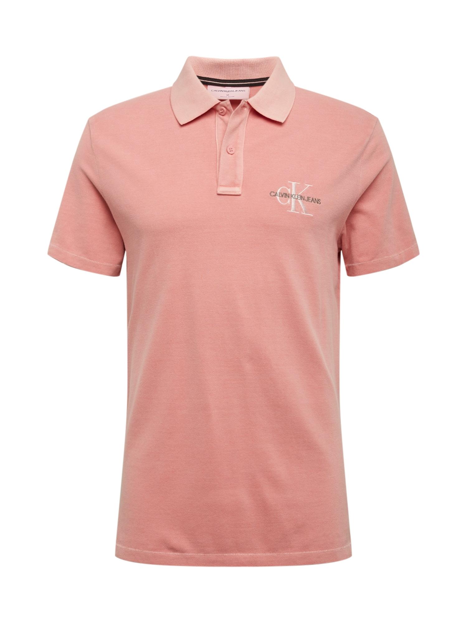 Calvin Klein Jeans Marškinėliai 'ARCHIVE MONOGRAM EMBRO POLO' abrikosų spalva