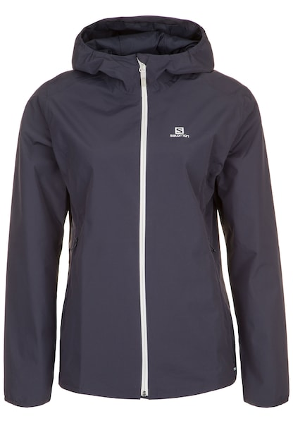 Jacken für Frauen - Jacke 'Essential' › SALOMON › dunkelgrau weiß  - Onlineshop ABOUT YOU