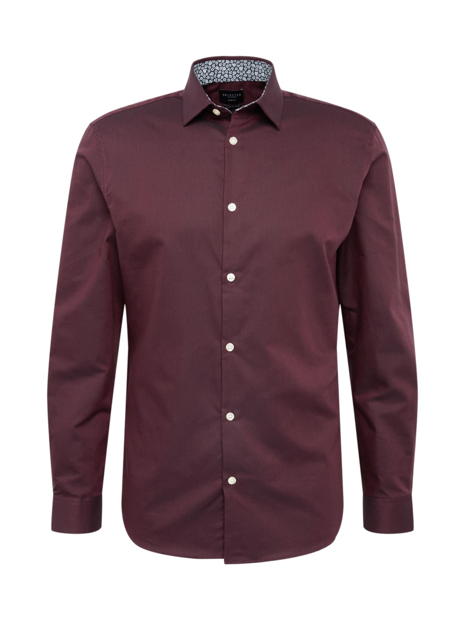 SELECTED HOMME Dalykinio stiliaus marškiniai vyšninė spalva