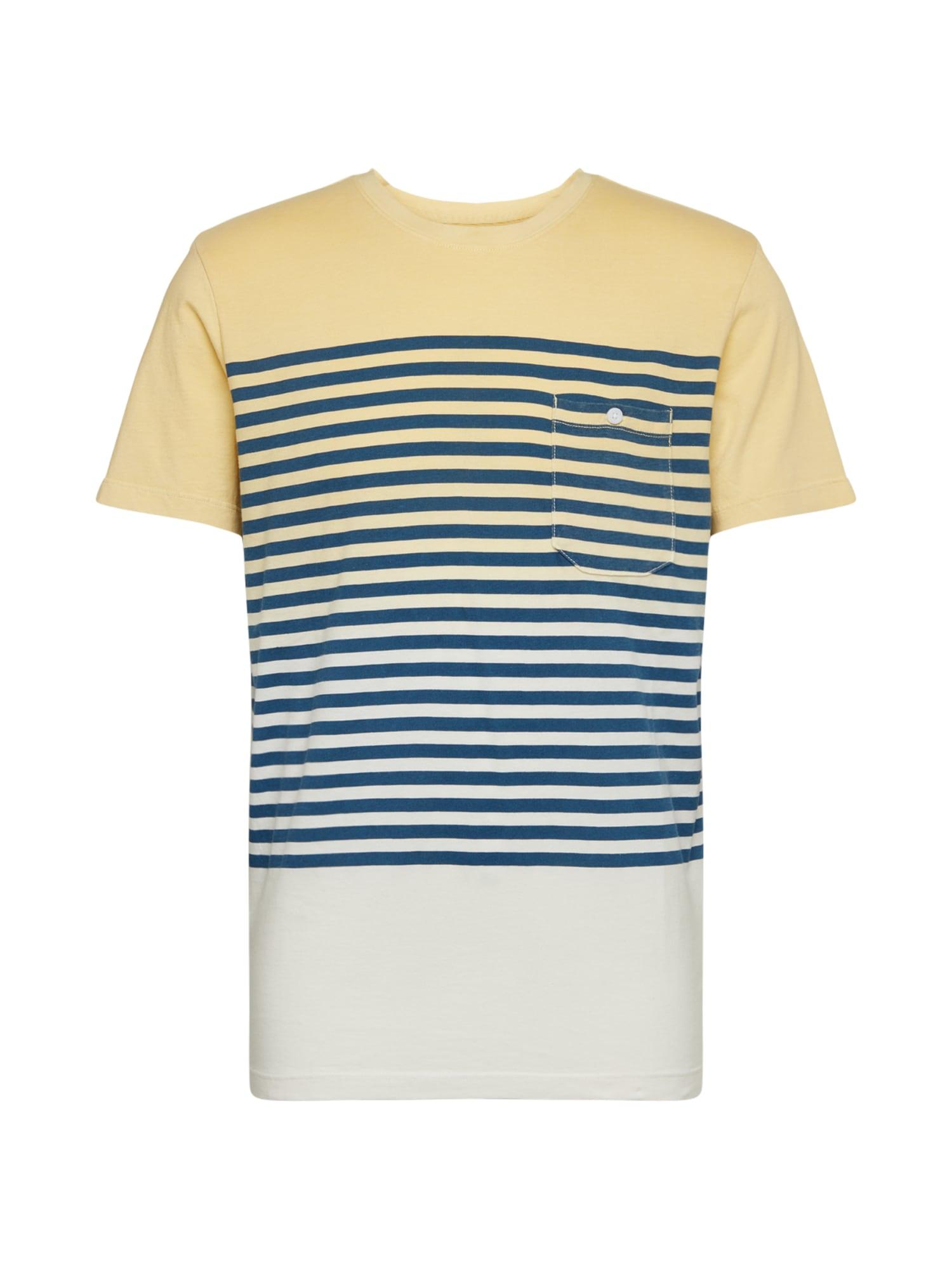 JACK & JONES Marškinėliai mėlyna / geltona