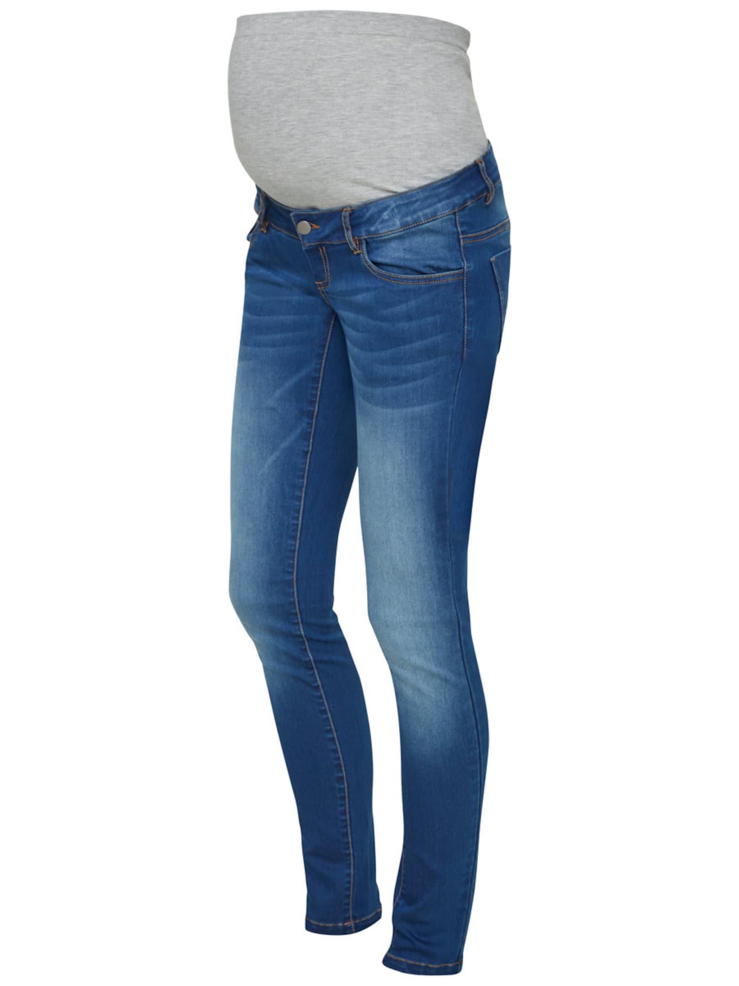 MAMALICIOUS Džinsai tamsiai (džinso) mėlyna / pilka