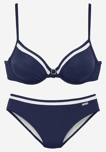 lascana b gel bikini in navy wei about you. Black Bedroom Furniture Sets. Home Design Ideas