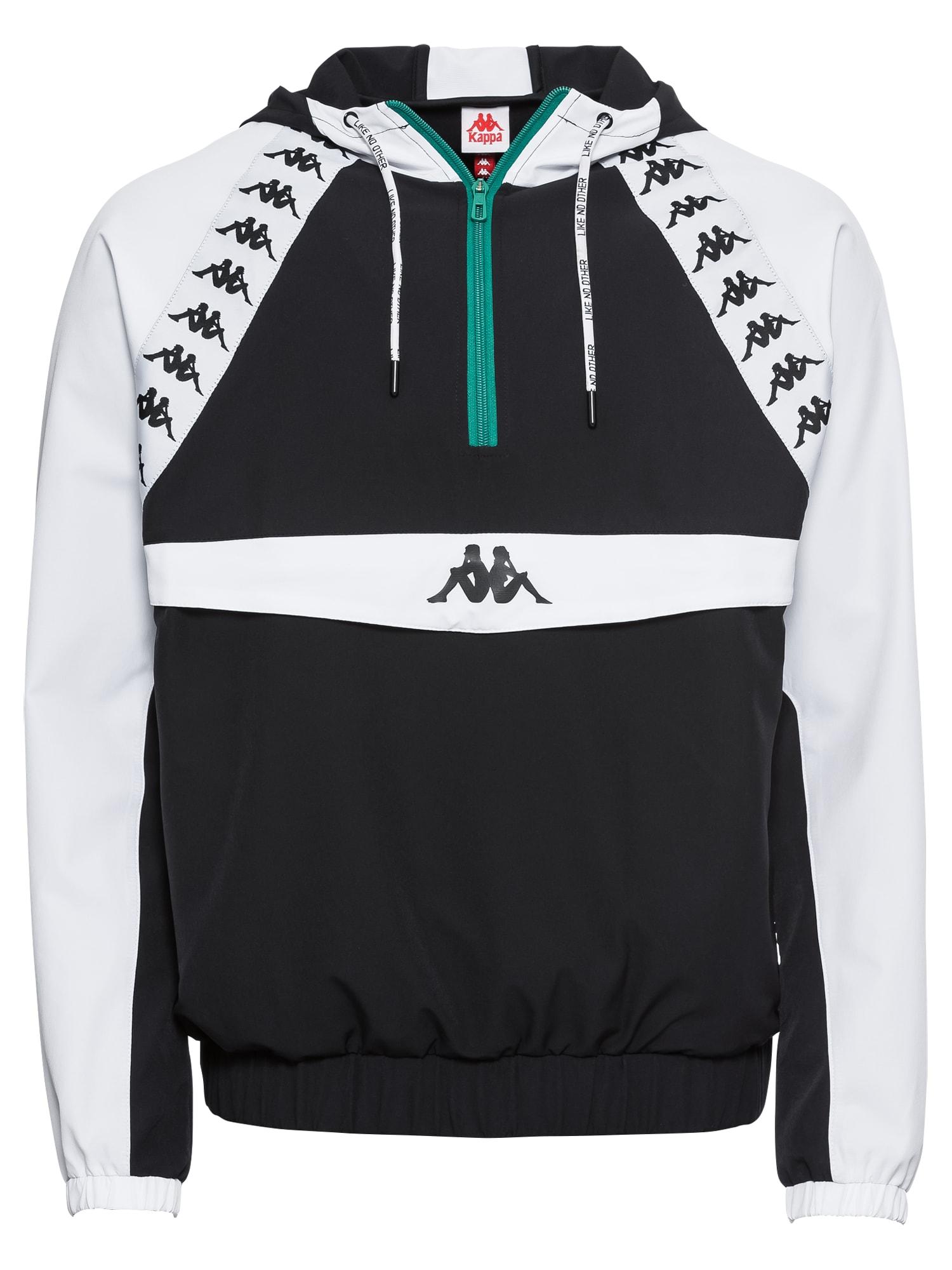 Přechodná bunda Authentic Bakit černá bílá KAPPA