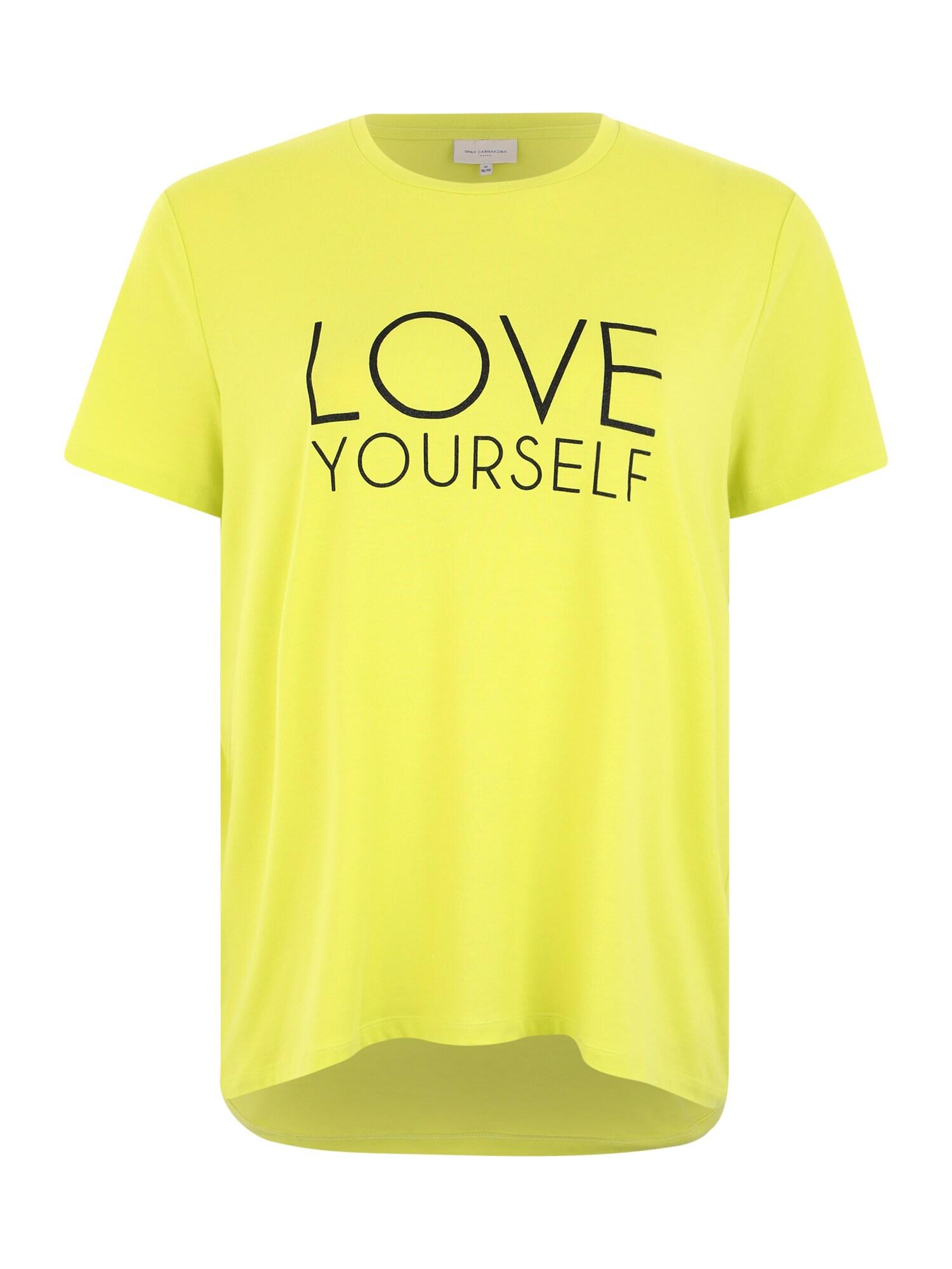 ONLY Carmakoma Marškinėliai 'CARBRIGHT' neoninė geltona