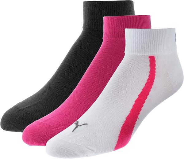 Socken für Frauen - PUMA Socken anthrazit neonpink weiß  - Onlineshop ABOUT YOU