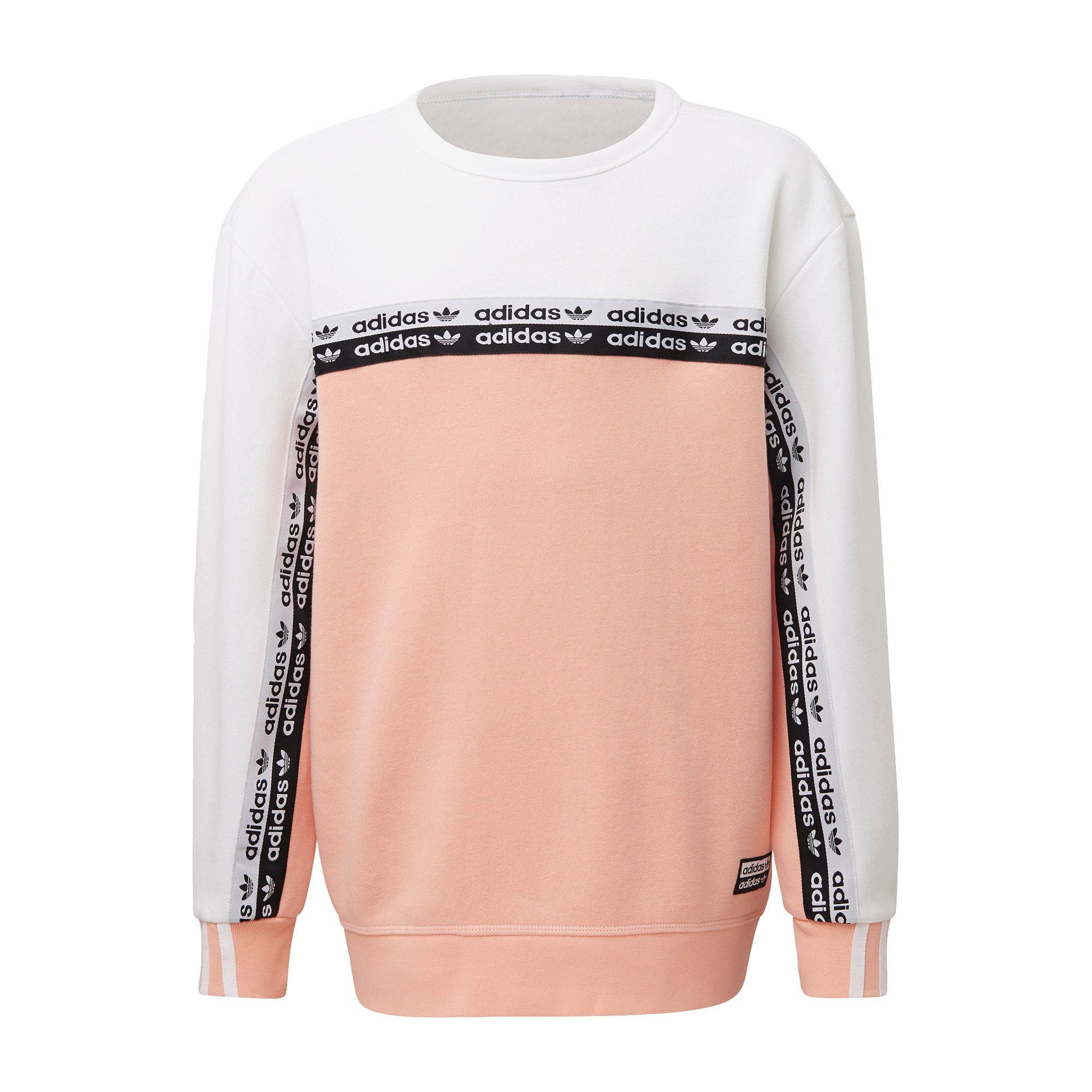 ADIDAS ORIGINALS Megztinis be užsegimo ryškiai rožinė spalva / balta