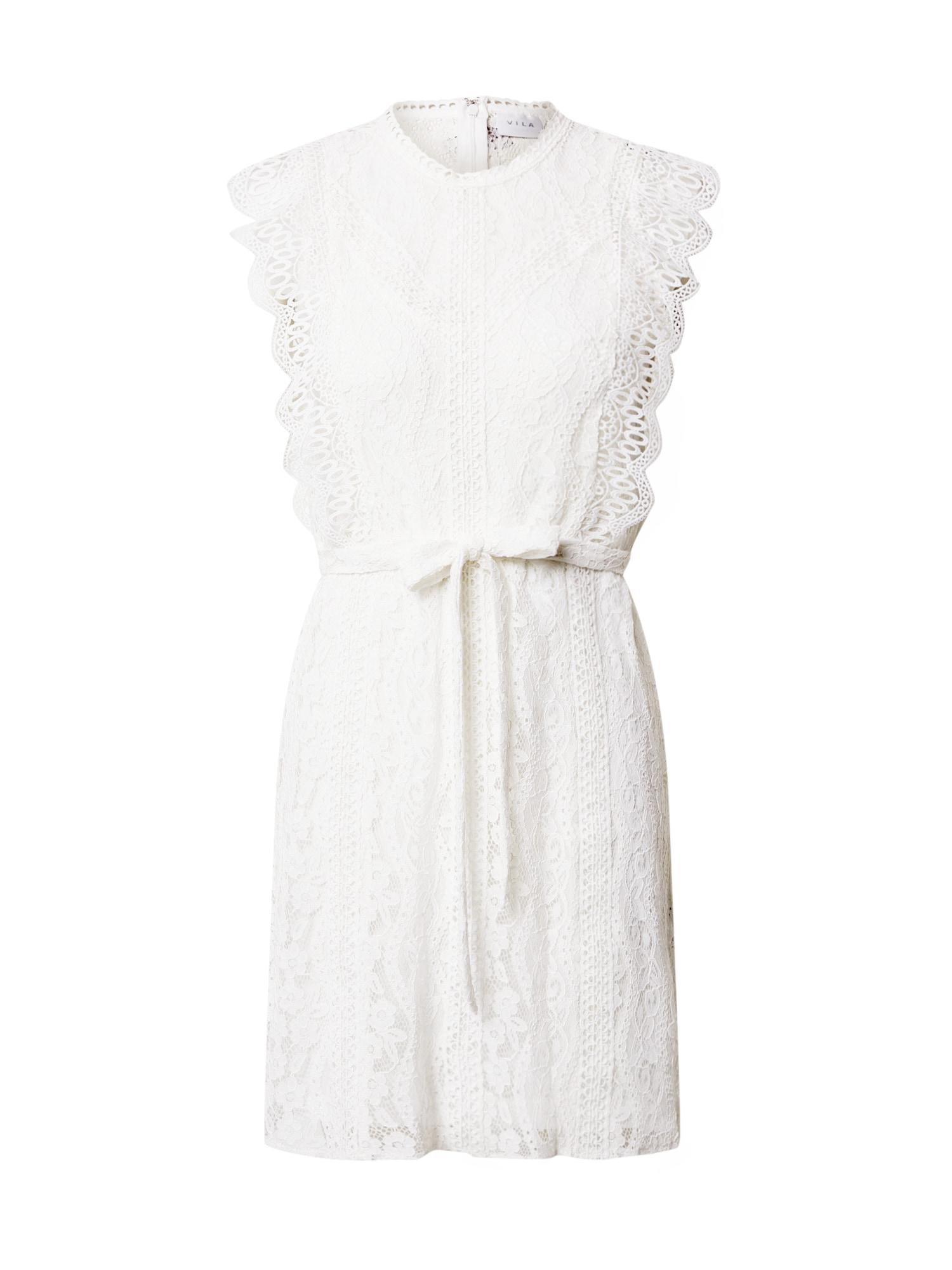 VILA Letné šaty 'TAFFA'  šedobiela