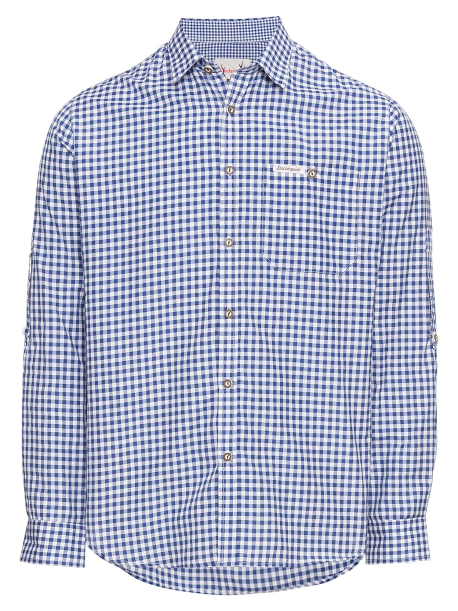 STOCKERPOINT Neliemenuoti marškiniai 'Campos3' mėlyna / balta