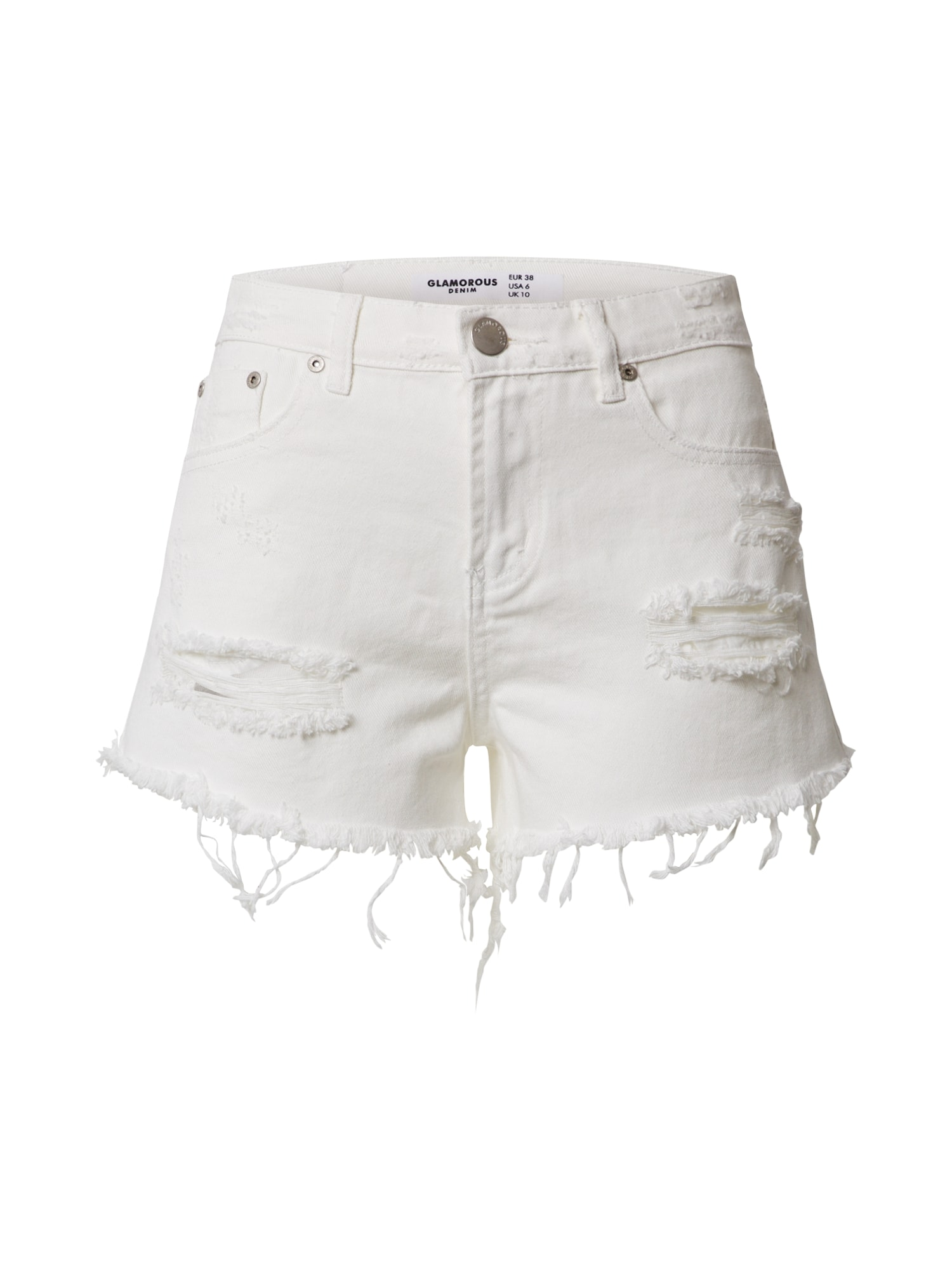 GLAMOROUS Džinsai 'LADIES SHORTS' balta