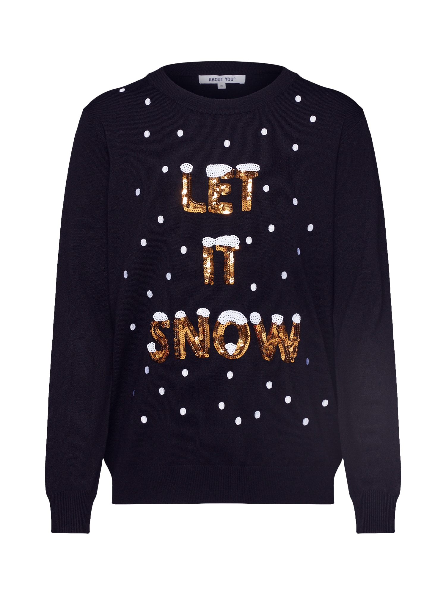 ABOUT YOU Megztinis 'Fenja Christmas Jumper' juoda