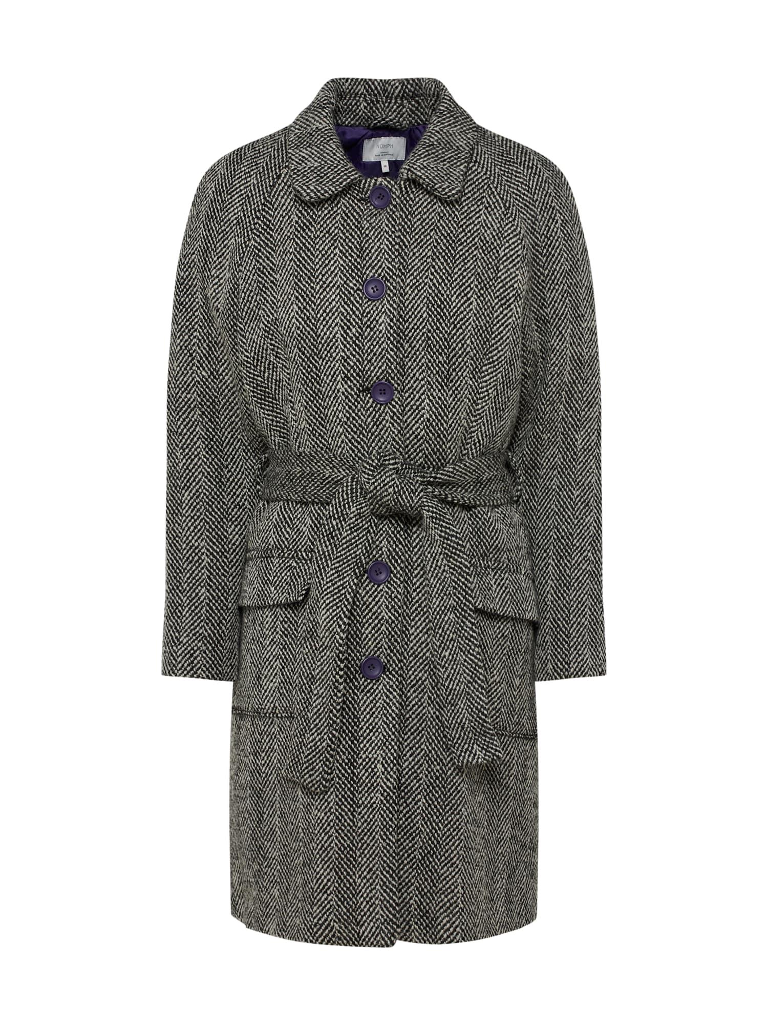 Zimní kabát Eirian černá NÜMPH
