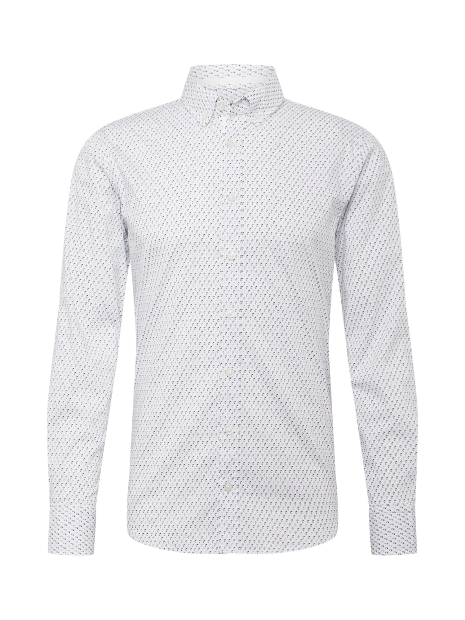 Společenská košile Mabsoot 10218772 01 bílá BOSS