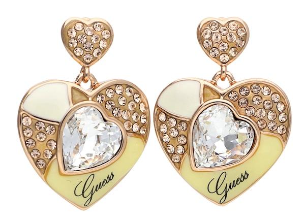 Ohrringe für Frauen - GUESS Ohrstecker 'UBE41107' gold schwarz weiß  - Onlineshop ABOUT YOU