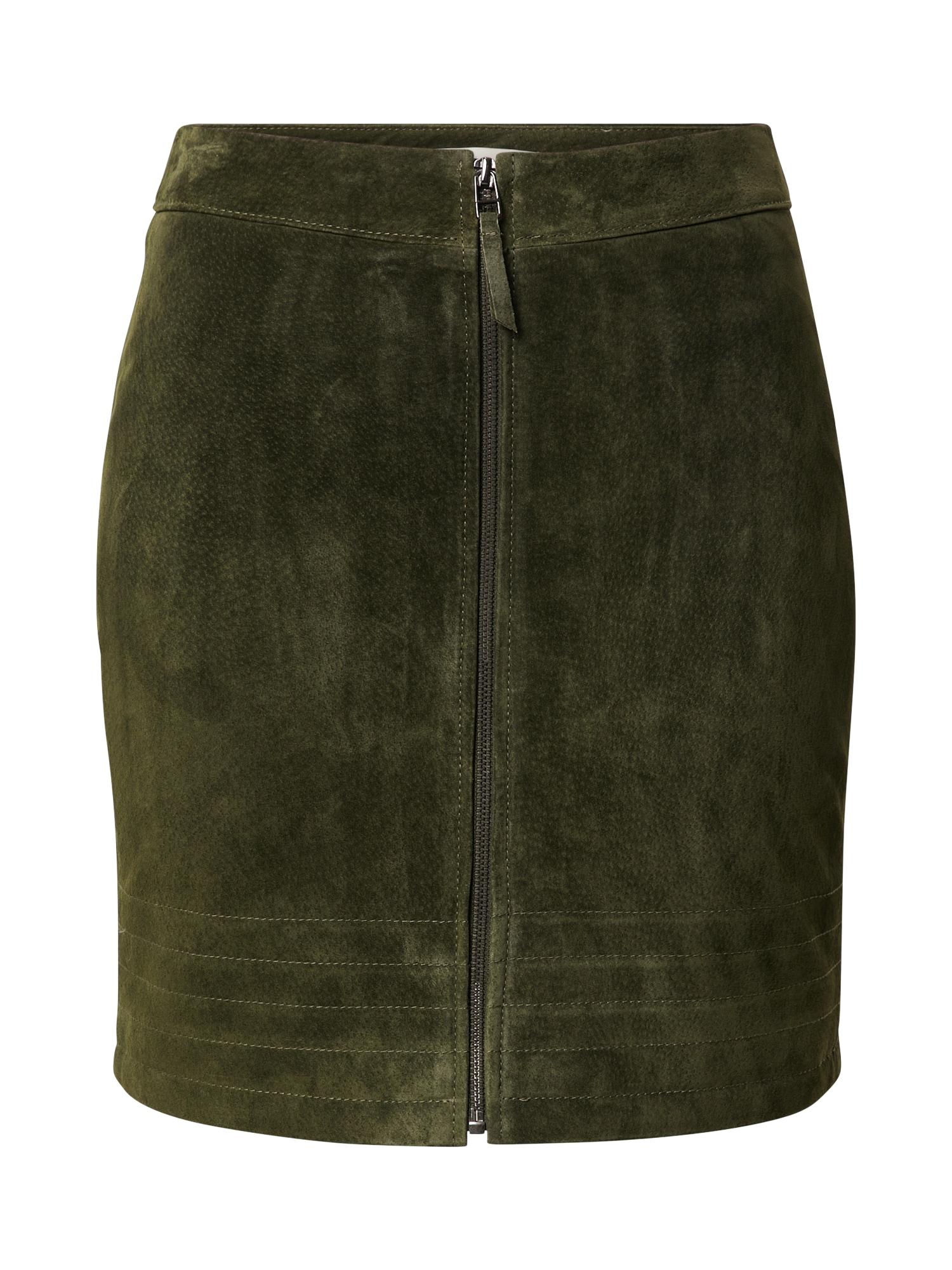 VILA Sijonas tamsiai žalia