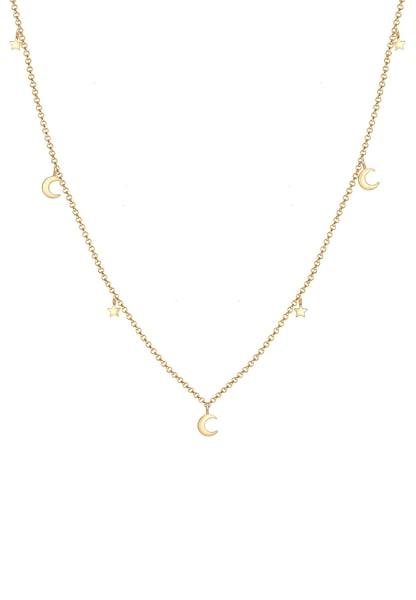 Ketten für Frauen - ELLI Halskette 'Halbmond, Sterne' gold  - Onlineshop ABOUT YOU