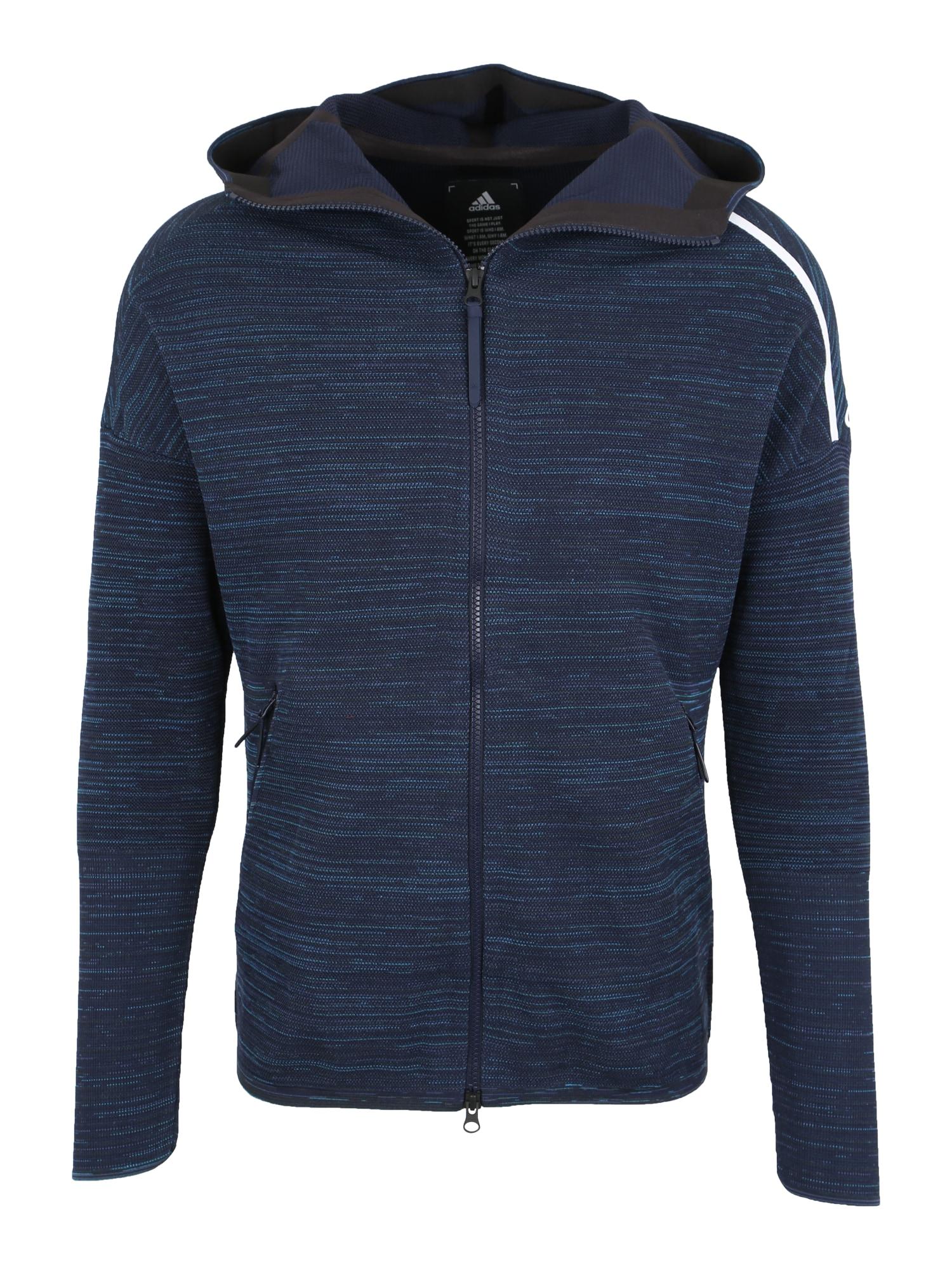 Sportovní bunda M Z.N.E. modrá bílá ADIDAS PERFORMANCE