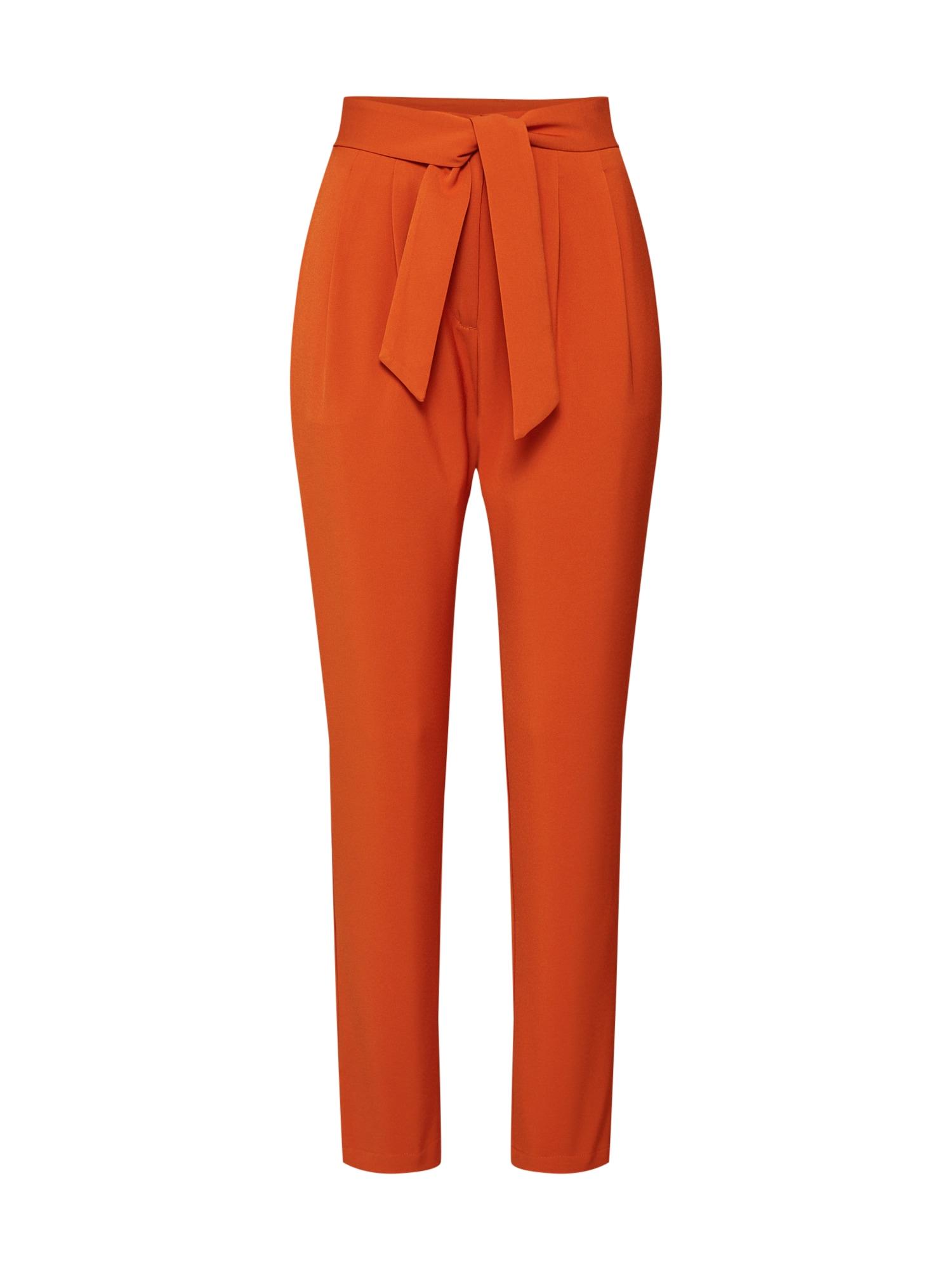 4th & Reckless Klostuotos kelnės 'Jimmy Trousers' oranžinė