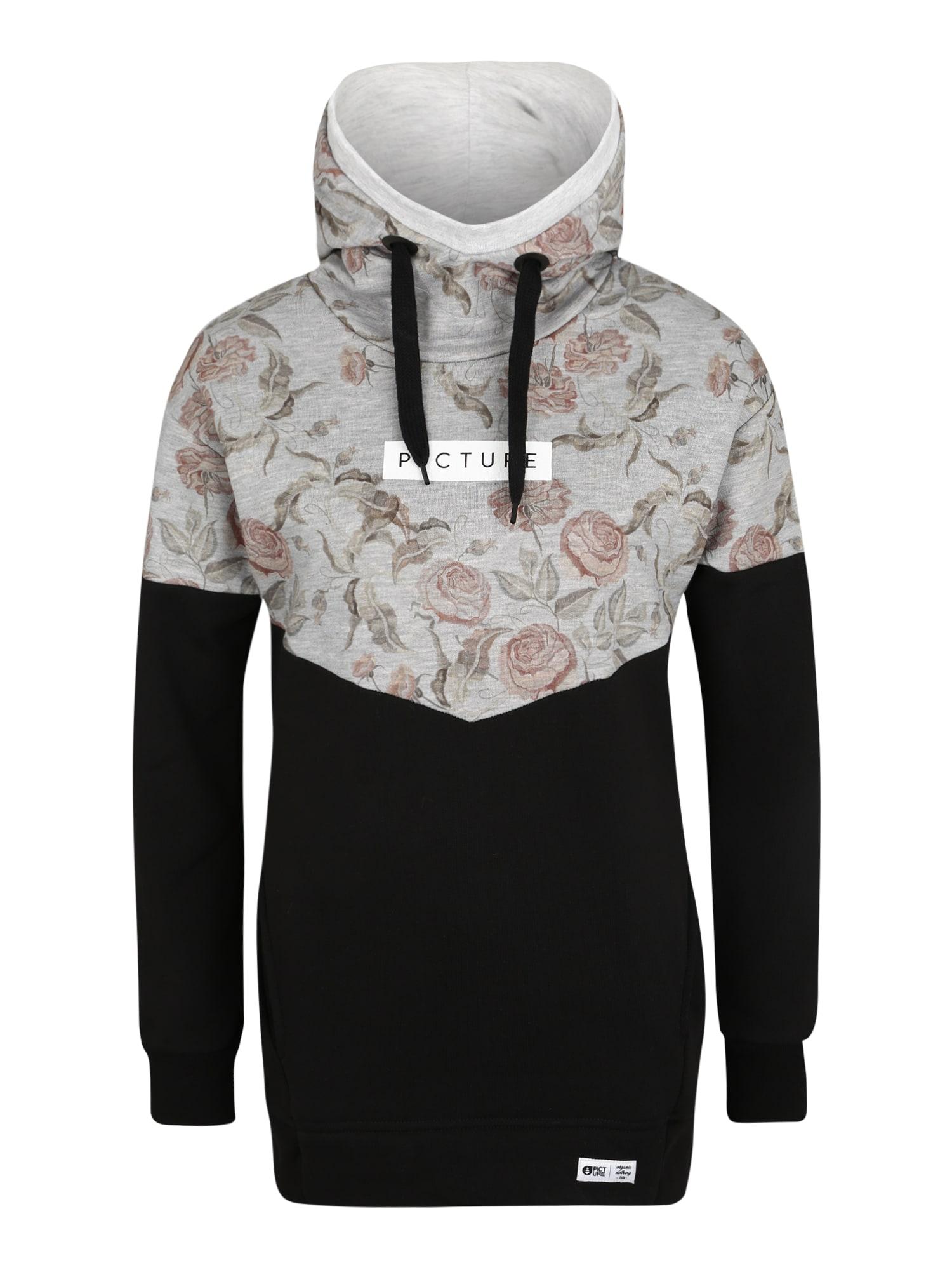 Picture Organic Clothing Športová mikina  čierna / sivá