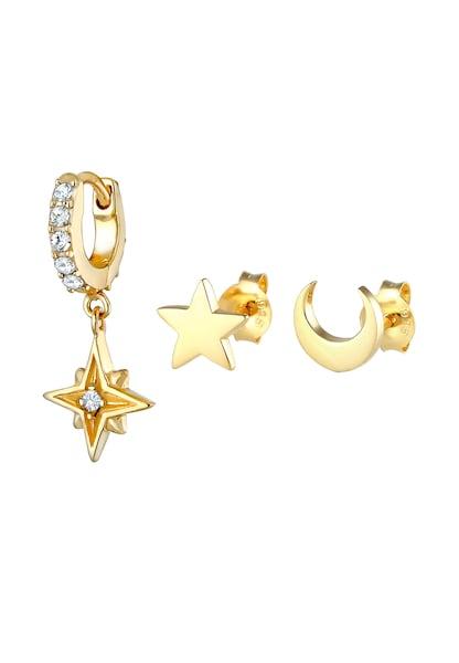 Ohrringe für Frauen - Ohrringe Astro, Halbmond, Sterne › ELLI › gold silber  - Onlineshop ABOUT YOU