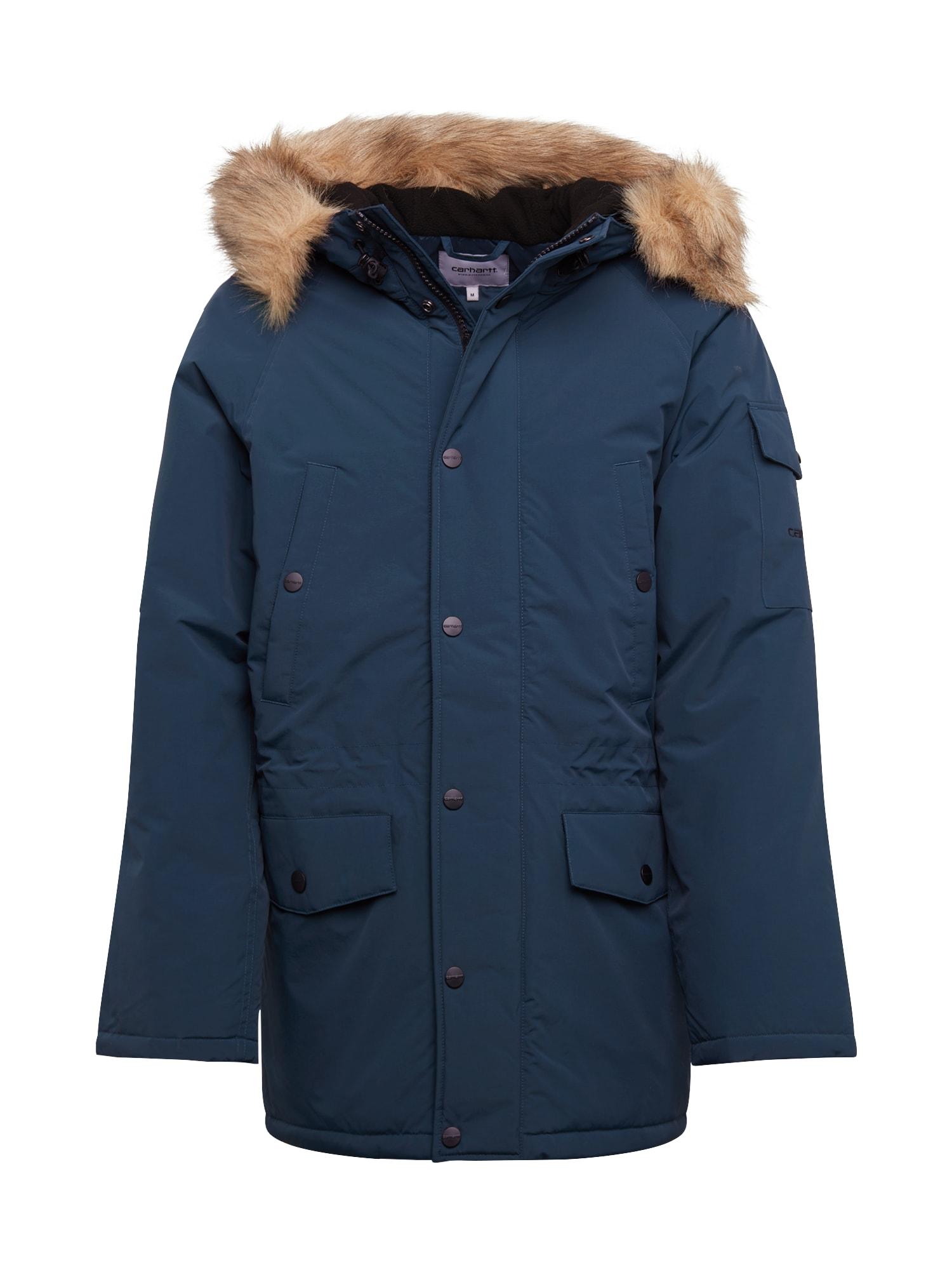 Carhartt WIP Ilga rudeninė-žieminė striukė 'Anchorage' nakties mėlyna
