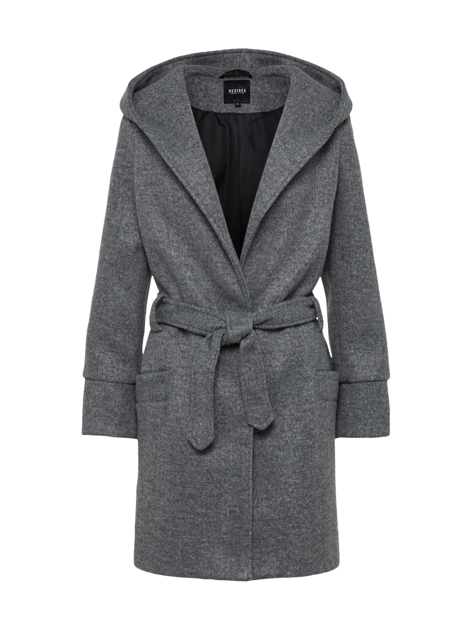 Desires Žieminis paltas 'Refika' pilka